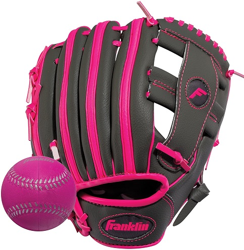 Franklin Sports Teeball Infinite WebShok-Sorb Combo Series Fielding Glove, 10.5-Inch